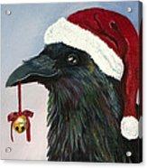 Santa Raven Acrylic Print by Amy Reisland-Speer