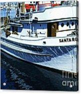 Santa Rosa Purse-seiner Fishing Boat Monterey Bay Circa 1950 Acrylic Print
