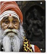 Santa Sadhu Acrylic Print