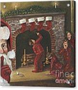 Santa Surprise Acrylic Print by Kimberly Daniel