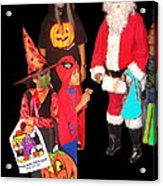 Santa Trick Or Treaters Halloween Party Casa Grande Arizona 2005 Acrylic Print