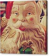 Santa Whispers Vintage Acrylic Print by Toni Hopper