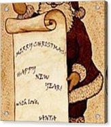 Santa Wishes Digital Art Acrylic Print