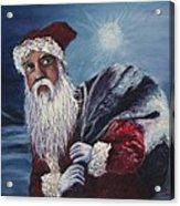 Santa With His Pack Acrylic Print