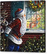 Santa's At The Window Acrylic Print