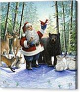 Santa's Christmas Morning Acrylic Print