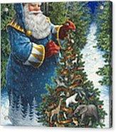Santa's Christmas Tree Acrylic Print