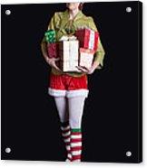 Santa's Helper Merry Christmas Elf Card Acrylic Print
