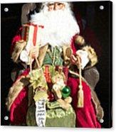 Santa's List Two Acrylic Print