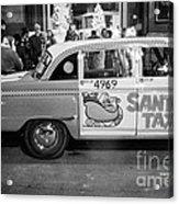 Santa's Taxi Acrylic Print