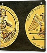 Santee Sioux Tribe Code Talkers Bronze Medal Art Acrylic Print