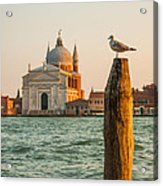 Santissimo Redentore At Sunset Acrylic Print