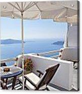 Santorini Balcony  Acrylic Print