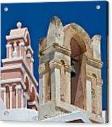 Santorini Bell Towers Acrylic Print