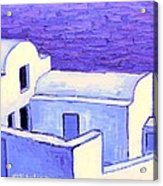 Santorini Houses Acrylic Print