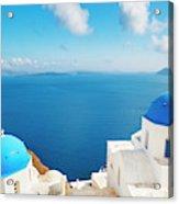 Santorini Island, Greece, Beautiful Acrylic Print