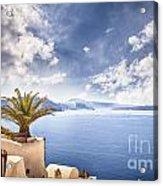 Santorini Island Acrylic Print