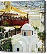 Santorini Overlook Acrylic Print