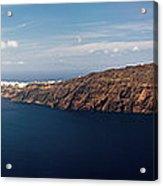 Santorini Panorama Acrylic Print