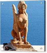 Santorini Sphynx Acrylic Print