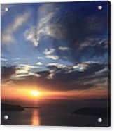 Santorini Sunset Cyclades Greece  Acrylic Print