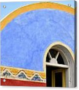 Santorini Window Acrylic Print