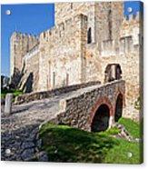 Sao Jorge Castle In Lisbon Acrylic Print