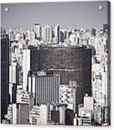 Sao Paulo - Aerial View Acrylic Print by Ricardo Lisboa