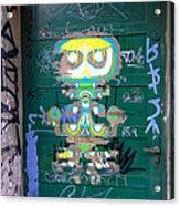 Sao Paulo Green Door II Acrylic Print