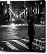 Sao Paulo Street At Night Acrylic Print