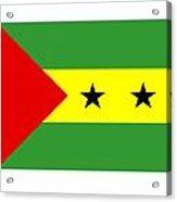 Sao Tome And Principe Flag Acrylic Print