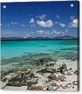 Saphire Beach Acrylic Print