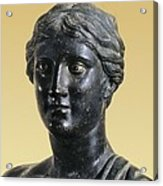 Sappho 612-545 Bc. Greek Art. Sculpture Acrylic Print by Everett