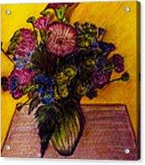 Sarah's Sweet 16 Flowers Acrylic Print