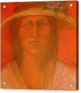 Sara's Spring Hat Acrylic Print by Johanna Elik