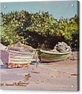 Sardine Dories On The Beach Acrylic Print