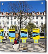 Sardine Outdoors At Rossio Square Acrylic Print