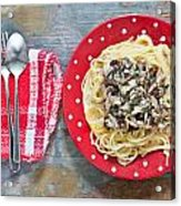 Sardines And Spaghetti Acrylic Print