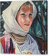 Sardinian Girl Acrylic Print