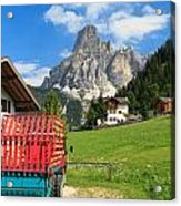 Sassongher Mount From Corvara Acrylic Print