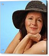 Sassy Lady In Hat Acrylic Print