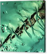 Satellite View Of Cays In North Acrylic Print