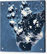 Satellite View Of Montserrat Island Acrylic Print