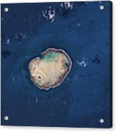 Satellite View Of Rocas Atoll In South Acrylic Print
