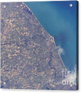 Satellite View Of St. Joseph Area Acrylic Print by Stocktrek Images