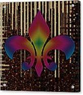Satin Lily Symbol Digital Painting Acrylic Print