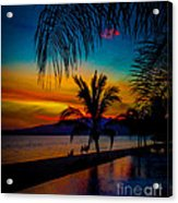 Saturated Mexican Sunset Acrylic Print