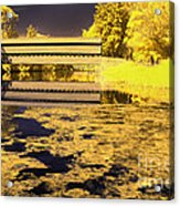 Saucks Bridge - Pond Acrylic Print