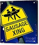 Sausage Crossing Acrylic Print