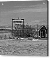 Savageton Cemetery  Wyoming Acrylic Print